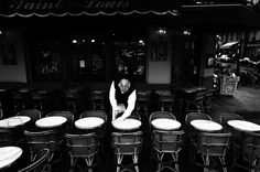A street cafe..