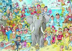 Jumbo Wasgij Mystery Carry On Capers Jigsaw Puzzle (2 x 1000 Pieces): Amazon.co.uk: Toys & Games
