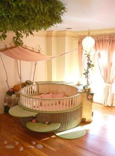 Sweet fairy/forest room. I don't care if this is meant for children, I want it.