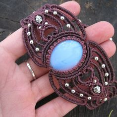 Bracelet with moonstone #macrame#macramebracelet