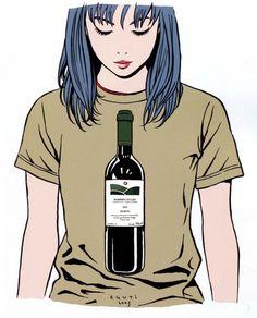 Kai Fine Art is an art website, shows painting and illustration works all over the world. Kawaii Illustration, People Illustration, Graphic Design Illustration, Digital Illustration, Cute Girl Drawing, Wine Guide, Girls Anime, Manga Artist, Pretty Art