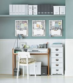 It cost less than 215 pounds to create this work area.