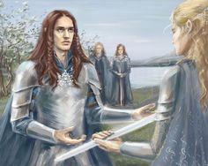 Финрод принимает клятву верности  by ElfinFen