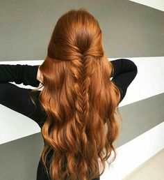 Best And Amazing Red Hair Color And Styles To Create This Summer; Red Hair Color And Style; Giner And Red Hair Color; Red Hair Color, Hair Colors, Color Red, Ginger Hair Color, Purple Hair, Hair Dos, Red Hair Updo, Red Hair Makeup, Wavy Hair