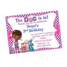 Doc Mcstuffins Printable Party Invitations By Owlalwaysloveuprints 700