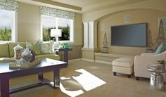 Bonus room with built-in media niche and columns in Bonney Lake, WA [photo 8]