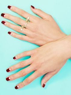 How To Nail The Half-Moon Manicure+#refinery29
