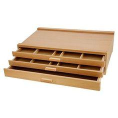 US Art Supply 3-Drawer Artist Wood Pastel, Pen, Marker Storage Box  | eBay