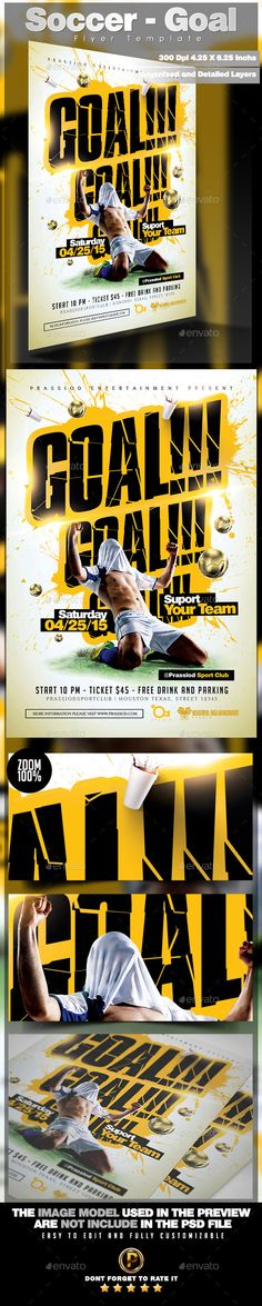 Soccer Flyer Template  Flyer Template Soccer And Sports