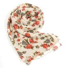 Pretty floral scarf