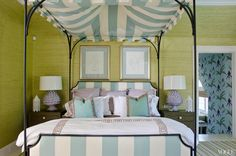 Celerie Kemble and Anna Burke - girl's room - adorablet canopy and fun colors