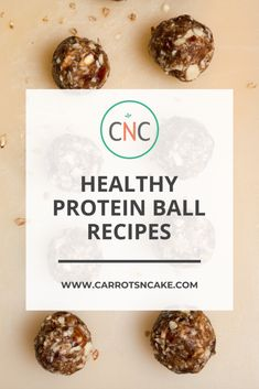 If you are looking for an easy snack recipe - look no further! A collection of easy and healthy protein ball recipes perfect for your on-the-go lifestyle! | Carrots N Cake | Veggie Recipes Healthy, Healthy Protein, Healthy Snacks, Snack Recipes, High Protein, Easy Snacks, Easy Meals, Carrots N Cake, Macro Friendly Recipes