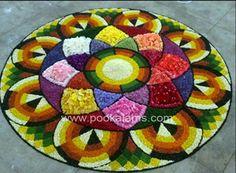 Onam Rangoli Designs Flower, Flower Rangoli, Onam Pookalam Design, Rangoli Colours, Diwali Decorations, Carpet, Kids Rugs, Gallery, Creative