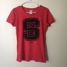 PINK NC State T-Shirt Worn once or twice, condition is the same as when I bought it. Very comfortable material PINK Victoria's Secret Tops Tees - Short Sleeve