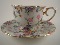 Two's Company Teacup and Saucer by MSMUnlimited on Etsy, $15.00