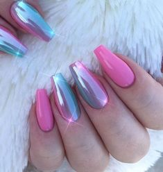 100 Nails Art Ideas // Chrome Nails // Fashion And Beauty Ideas 100 Nagelkunst Ideen / / Chrom Nägel / / Mode und Beauty-Ideen Gorgeous Nails, Pretty Nails, Fabulous Nails, Pink Nails, My Nails, Pink Chrome Nails, Crome Nails, Summery Nails, Chrome Nail Art