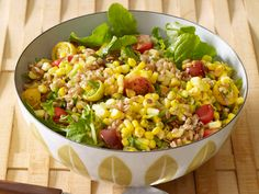 Farro and Corn Salad recipe from Food Network Kitchen via Food Network