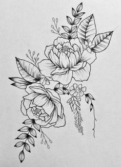 Love peonies and floral/botanical pieces. Drew this week and like the look enoug. , Love peonies and floral/botanical pieces. Drew this week and like the look enoug. Love peonies and floral/botanical pieces. Drew this week and like . Tattoo Sketches, Tattoo Drawings, Body Art Tattoos, Sleeve Tattoos, Dragon Drawings, Neck Tattoos, Tattoo Art, Tatoos, Peony Drawing