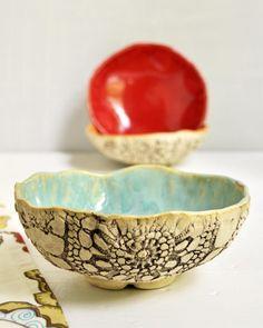 Urban mano rústica tazón de cerámica incorporado