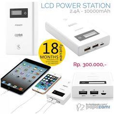 Pisen LCD Power Station (2.4A) 10000mAh  (Apple White): Batre lithium kualitas tinggi, proses charge yang cepat, dan garansi 18 bulan. Cuma IDR 300.  Online shopping: www.bukalapak.com/papazami  Fast Order: HP/WA/TG: 0815-1100-6400 BBM: 5E2E9F7F LINE ID: papazami  #pisen #pisenindonesia #pisenmart #pisenstore #pisenshop #pisenonline #powerbank #papazami #tokopapazami #onlineshop