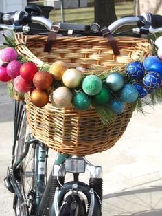 Christmas baubles on your bike! #festive