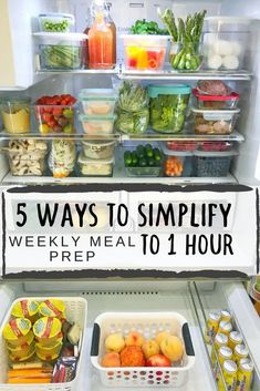 Meal prep doesn't mean prepping every single meal of the week. Here are 5 tips to help you reduce the time you spend prepping! #mealprep #mealplanning