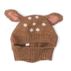 A classic from Oeuf NYC - Sweet bambi hat - Baby Alpaca.Oeuf NYC knits are made in Bolivia by a self-managed community of indigenous women. In line with fa Baby Alpaca, Alpaca Wool, Animal Hats, Baby Kind, Baby Hats, Cute Kids, Just In Case, Knitted Hats, Little Girls
