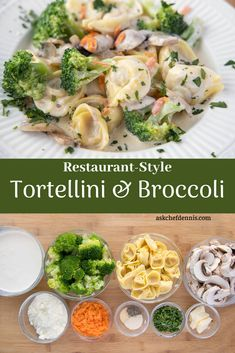 When it comes to deliciousness my Tortellini and Broccoli Alfredo is sure to bring smiles to your dinner table! And the best part is you can have this restaurant-style dish on your dinner table in 30 minutes or less. #askchefdennis