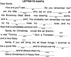 Class christmas party game idea mad libs fill in quot twas the night
