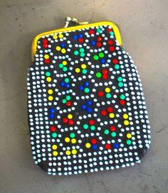 Items similar to pochette perles vintage - années 60-70 snap pièce haut de la page sac à main/verres cas on Etsy