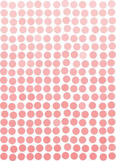 Coral ombre dot print. Use large white matte and chunky gold frame.
