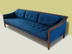 Mid-Century Modern Frank Bros. Sofa- 1960s Hollywood Regency