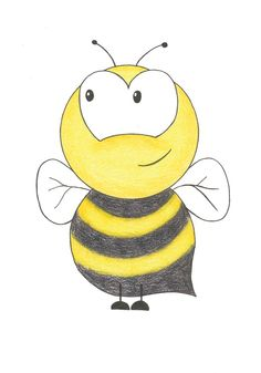 Nursery Room Wall Art  Bumble Bee 5x7 Matted by BrickHouseStudio, $9.00