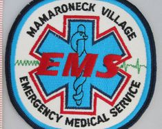Paramedic Central Park New York Emergency Medical Unit Patch vintage