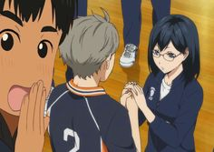 "blacksoulhesse: ""And Phichit do it again LoL "" funny haikyuu sugakiyo yuri on ice"