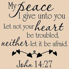 Mi paz que os doy que no tu corazón se turbe ni por vinylartstudio