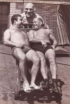 Maurice Tillet with his manager Karl Pojello and wrestler Rudy Laditzi. Angel In French, Ric Flair, Angel Pictures, Hot Flashes, Vintage Men, Ted, Death, Guys, Masks