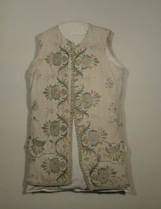 Waistcoat  National Trust Inventory Number 1350663 Date1760 - 1770 MaterialsLinen, Silk CollectionSnowshill Wade Costume Collection, Gloucestershire (Accredited Museum)
