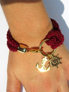 "Cute nautical bracelet. Such a weakness for nautical ""stuff""! Just ordered!"