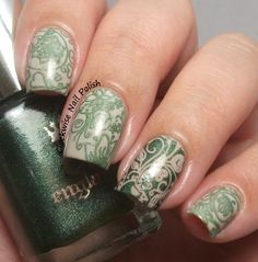 The Clockwise Nail Polish: Messy Mansion MM 65 Stamping Plate Review