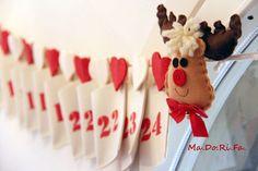 Calendario dell'avvento con le renne  http://madorifa.blogspot.it/
