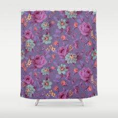 Hopeless Romantic - lavender version Shower Curtain