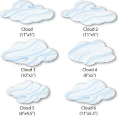 Cloud Wall Stickers Set 2