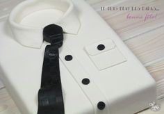 father's day shirt cake tutorial
