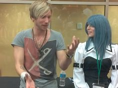 Troy Baker and Victoria Paege at the 2012 Saboten con