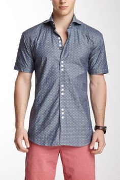 the latest dce21 f2a64 Mini Matis 83 Short Sleeve Diamonds Shirt by Bogosse on HauteLook Diamond  Shirts, Casual
