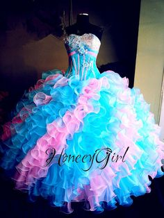 Dazzling Multi Color BallGown Quinceanera Dresses Sweet Pageant Gown