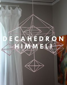 Aunt Peaches: Decahedron Himmeli Mobile (made from plastic drinking straws and wire!)
