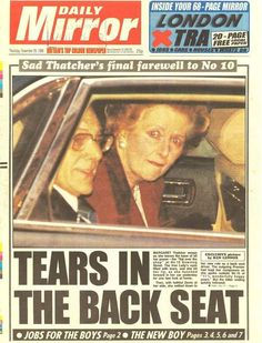 1990 Margaret Thatcher is to stand down as prime minister after her Cabinet refused to back her in a second round of leadership elections.The prime minister said pressure from colleagues had forced her to conclude that party unity and the prospect of victory in the next general election would be better served if she stepped down.Once again Margaret Thatcher has put her country's and party's interests before personal considerations