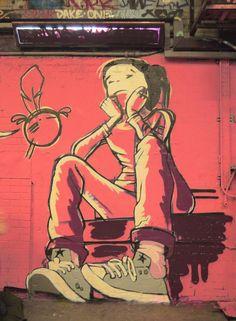 Street artist Roo's graffiti